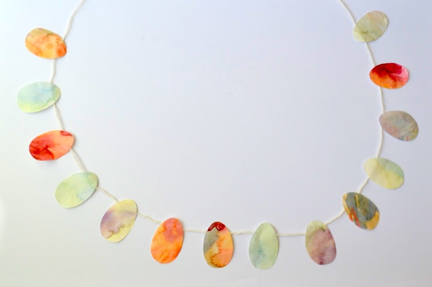 Watercolour Easter Egg Garland