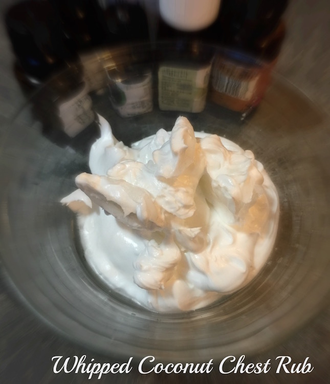 Whipped Coconut Chest Rub Recipe