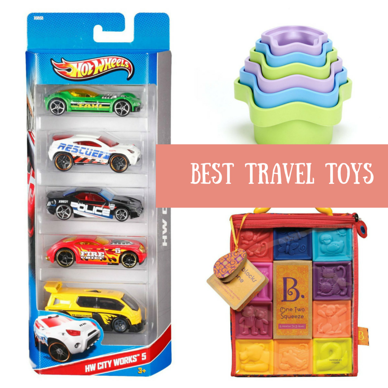 The Best Toys for Travelling - toys that pack well, are lightweight and keep the kids busy! The best travelling toys for Infants to Preschoolers. | Travelling with kids | Family travel | Travel toys
