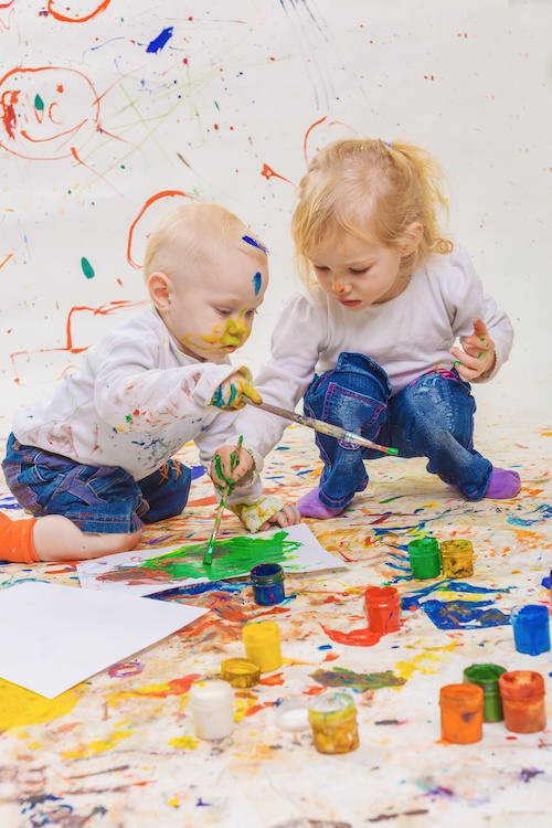 Free Painting with Toddlers - the Benefits of Painting, for Kids