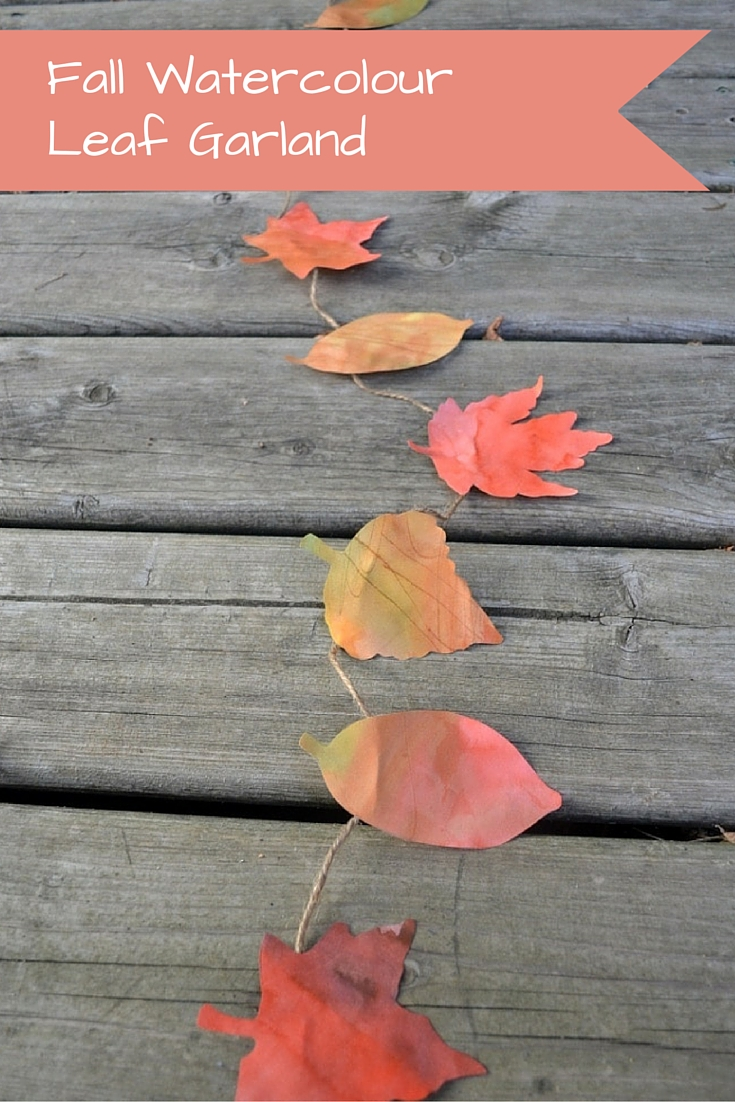 Fall Watercolour Leaf Garland - perfect craft for all ages