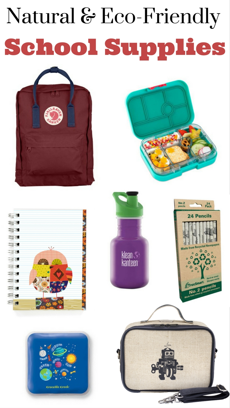 A great list of eco-friendly school supplies for kids & young adults, including backpacks, lunch gear & stationary. I love all of these.