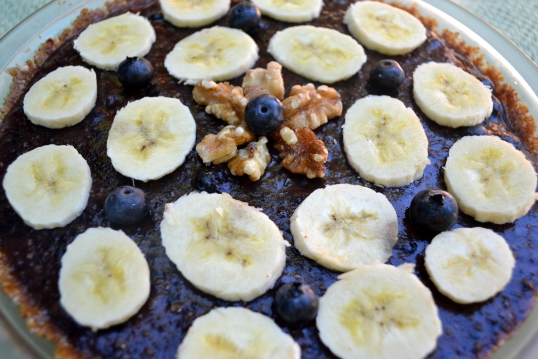 Raw blueberry banana cream pie (dairy-free, egg-free, GF)