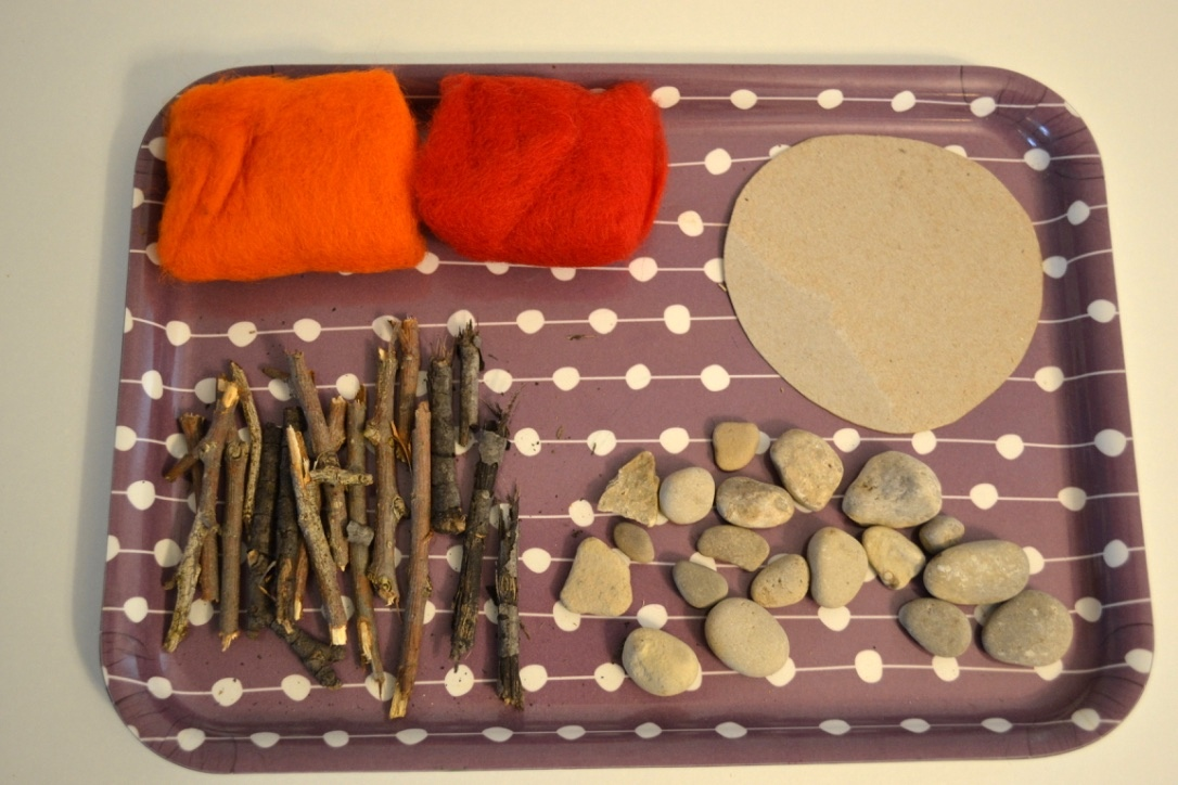 Nature and Felt Campfire Craft