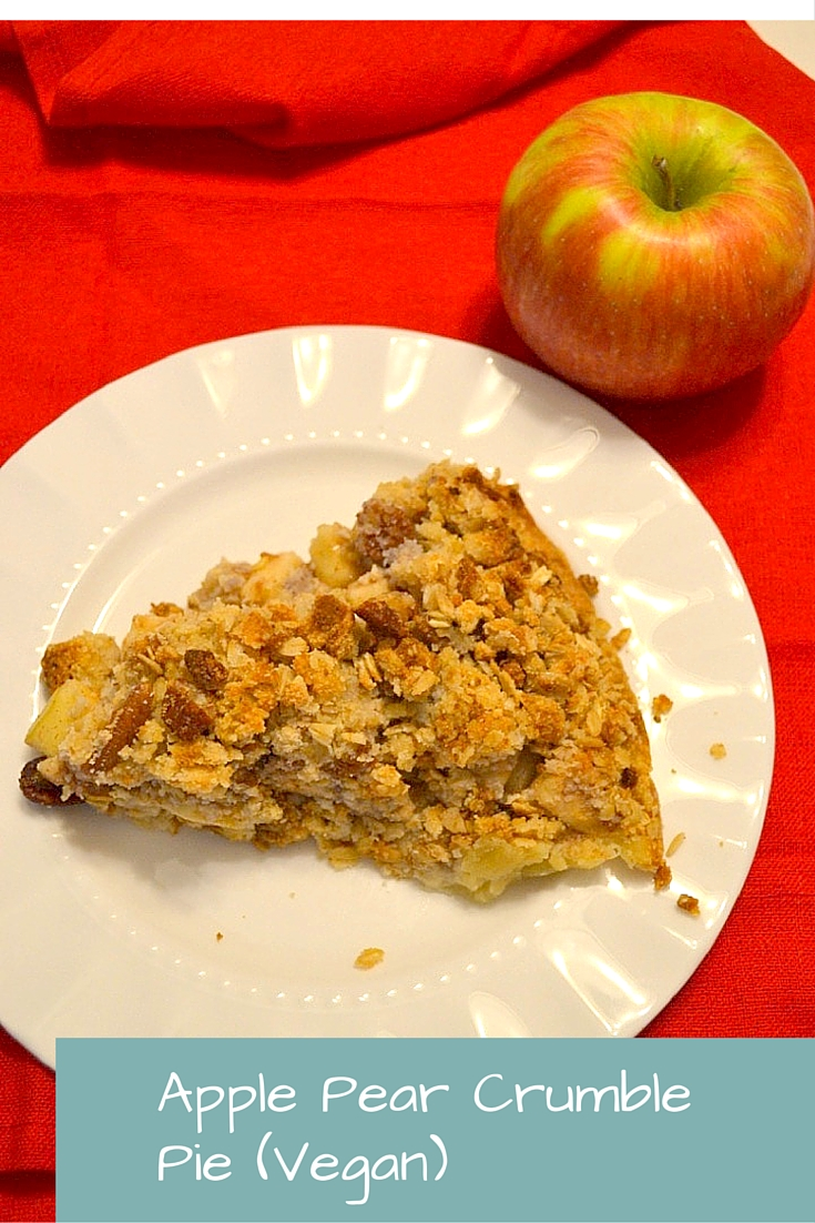 Apple Pear Crumble Pie (Vegan)