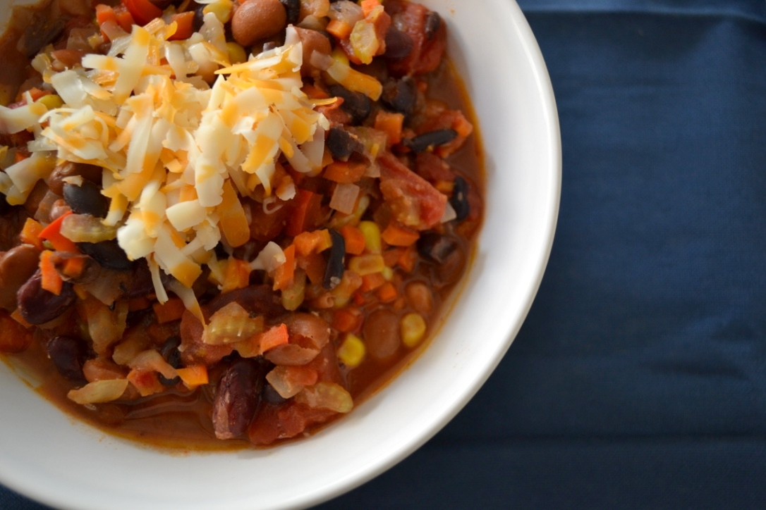 Kid-friendly Vegetarian Chilli - with a Vegan Option