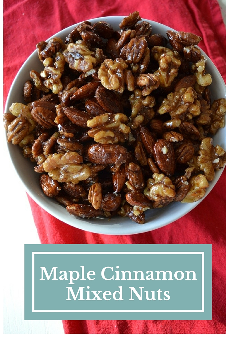 Maple Cinnamon Mixed Nuts (Vegan, GF)