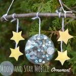 Moon and Star Mobile Christmas Ornament