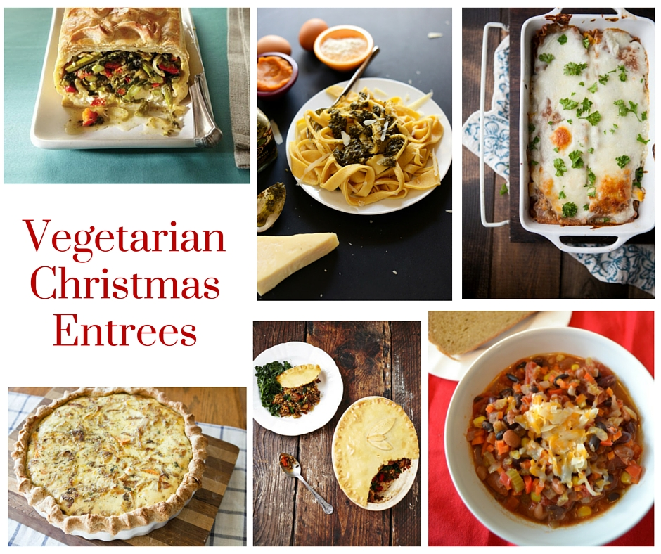 Vegetarian Christmas Menu - Appetizers, Side Dishes and Entrees