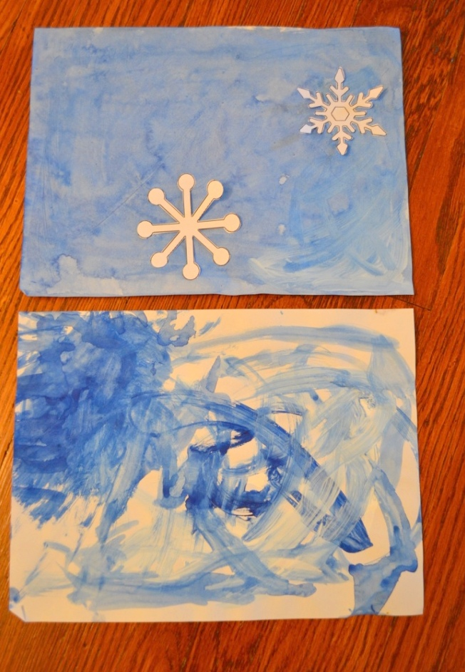 Snowflake Watercolour Craft