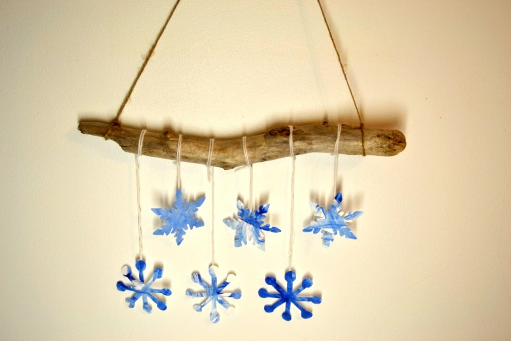 Watercolour Snowflake Mobile Craft