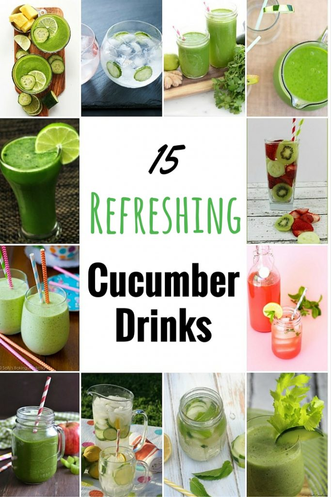 These refreshing cucumber drinks all look so delicious and healthy. They will be so perfect for the hot weather and summertime. I can't wait to make them all!