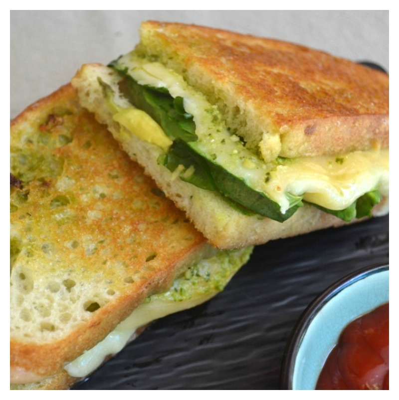 A healthy take on the classic grilled cheese, this green goddess grilled cheese is full of delicious greens. I love making this as an easy last-minute dinner and it's such a good way to get healthy greens into the kids.