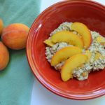 Peaches and Cream Vegan Overnight Oats