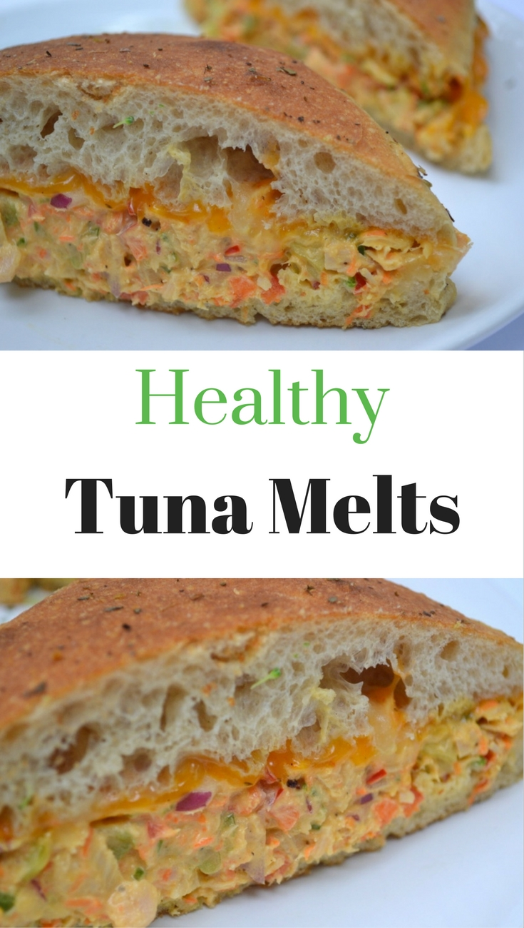 Delicious tuna melts that are healthy and so easy and quick the make. The whole family loves them!