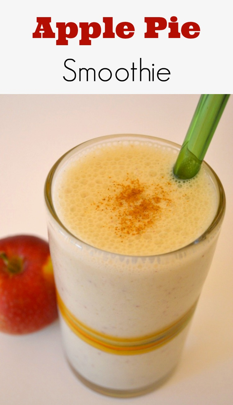 This apple pie smoothie is so delicious! I love that it's healthy and has protein. My favourite smoothie for Fall.