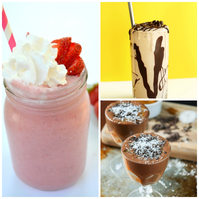These delicious vegan milkshakes all look so good! Can't wait to try them all. Love that they're healthy, too.