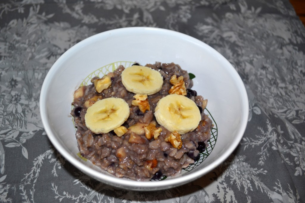 Wild Blueberry Banana Oatmeal