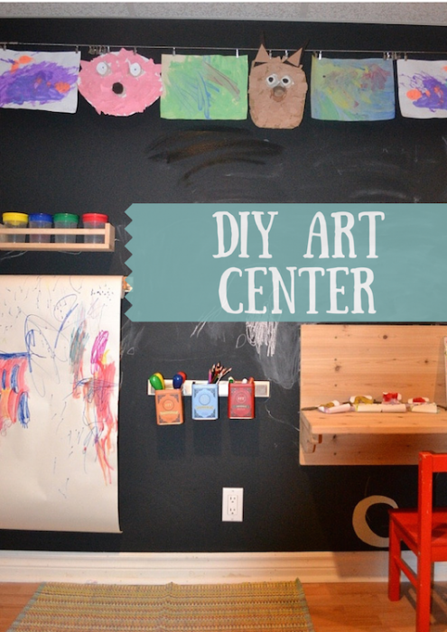DIY Art and Craft Center for Kids
