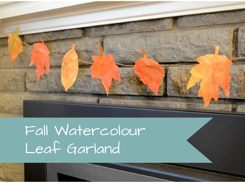 Fall Leaf Watercolour Garland