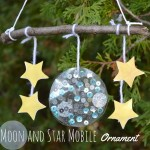 Moon and Star Mobile Christmas Ornament
