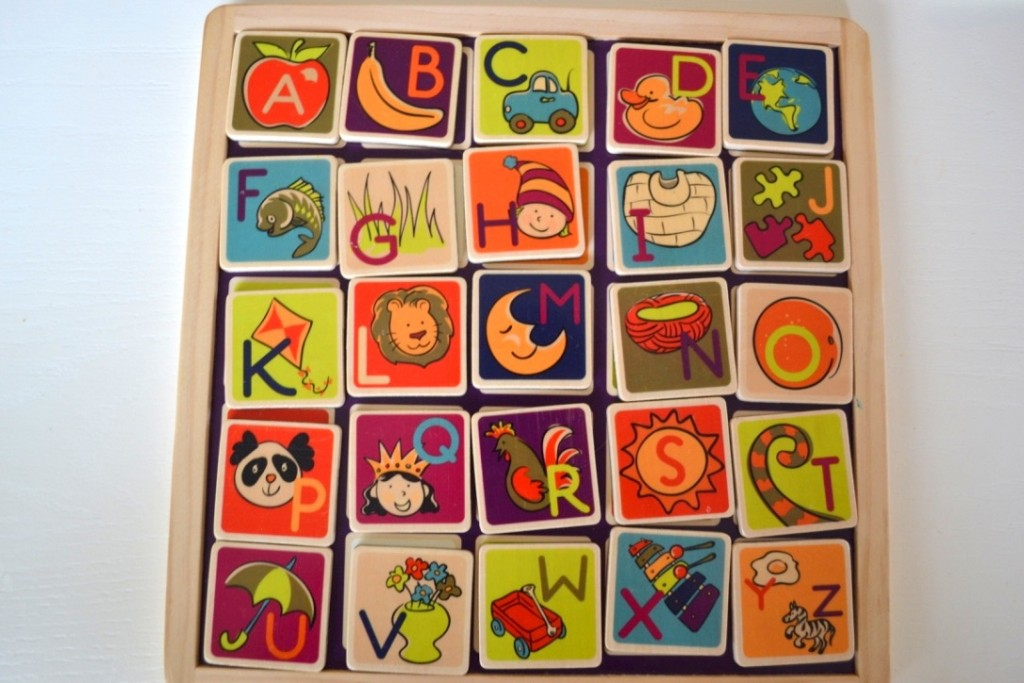 B.Toys Magnetic Alphabet Giveaway